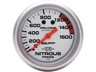 "Auto Meter Ultra-Lite Mechanical Gauge, 2-5/8"", Nitrous Pressure"
