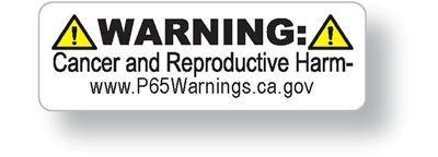 CALIFORNIA PROPOSITION 65 WARNING