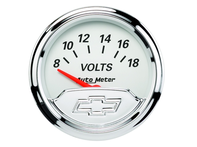 "Auto Meter Chevrolet Vintage Air-Core Gauge, 2-1/16"", Voltmeter (8-18 Volts)"