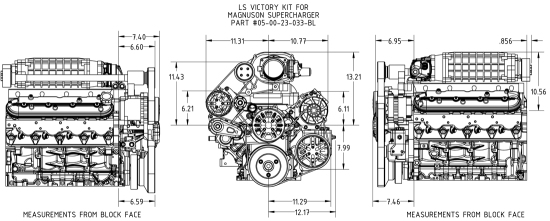 Concept One Chevrolet Ls Supercharger Victory Pulley Kit