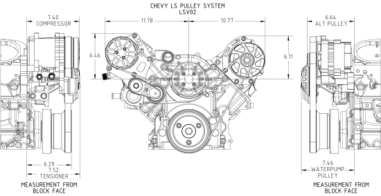 concept one chevrolet ls victory pulley kit  lsv02