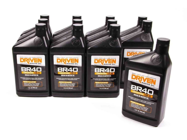DRIVEN BR40 CONVENTIONAL 10W-40 BREAK-IN MOTOR OIL (12-1 Quart Bottles)