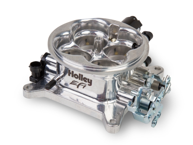 Holley EFI Universal 4 Barrel 1000 CFM 4150 Throttle Body, Polished Finish