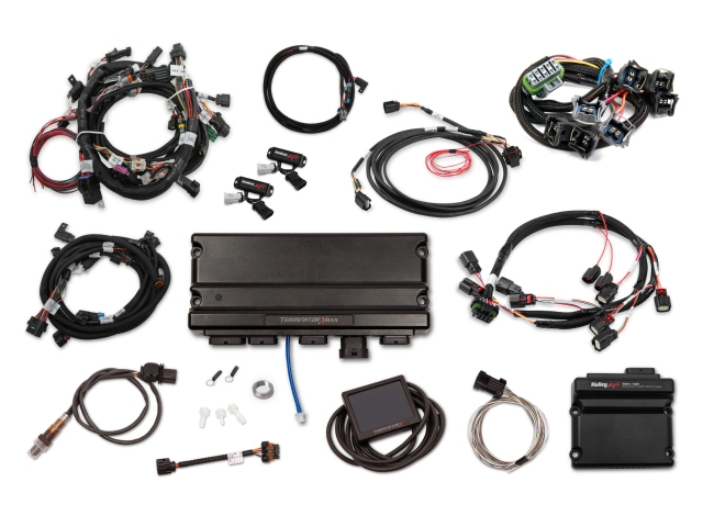 Holley EFI TERMINATOR X MAX MPFI Kit w/ EV1 Injector Harness & DBW Throttle Body Control (2013-2015 FORD 5.0L COYOTE)