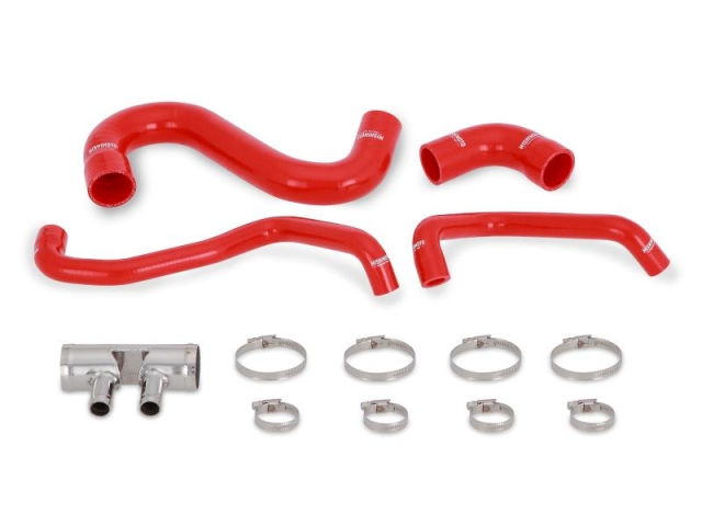 MISHIMOTO Silicone Lower Radiator Hose Kit, Red (2015-2017 Mustang GT)