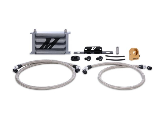 MISHIMOTO Oil Cooler Kit, Thermostatic, Silver (2010-2015 Camaro SS)