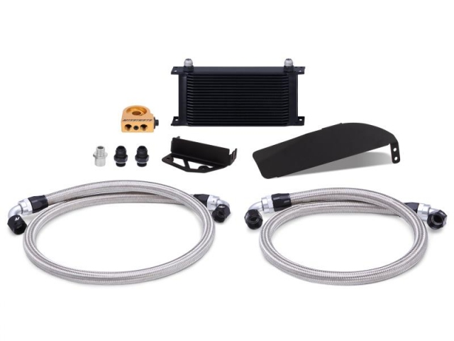 MISHIMOTO Direct-Fit Oil Cooler Kit, Black (2017-2020 Civic Type R)