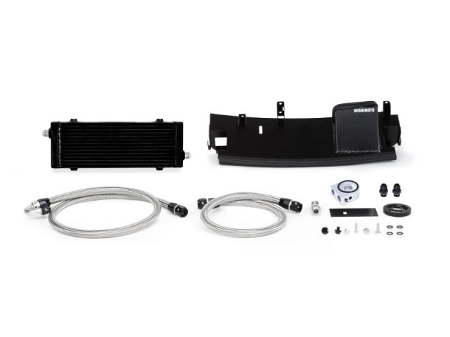 MISHIMOTO Oil Cooler Kit, Non-Thermostatic, Black (2016-2018 Focus RS)