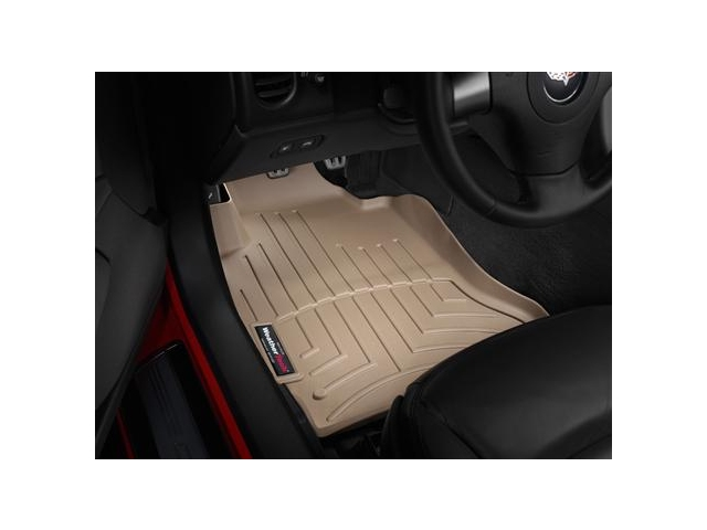 WeatherTech FloorLiner DigitalFit [1ST ROW | TAN] (2005-2013 Corvette)